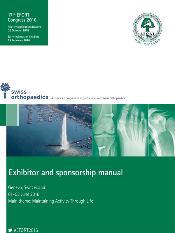 17th EFORT Annual Congress Geneva 2016 Exhibitor and Sponsorship Manual