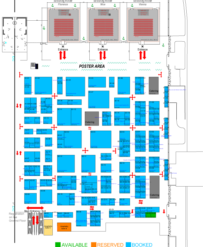17th EFORT Annual Congress Geneva 2016 Exhibition FINAL Floor Plan (PDF document, 1 page, 275kb) - Updated as of 18 May 2016